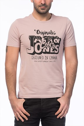 Jack & Jones Pembe T-Shirt - Time Originals Tee SS Crew Neck -