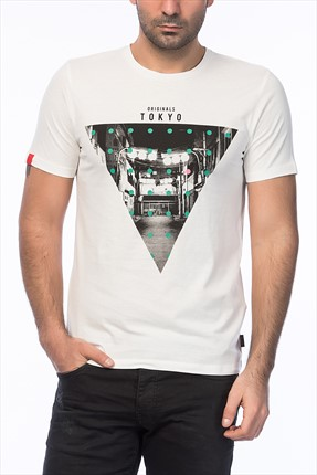 Jack & Jones Beyaz T-Shirt - Blast Originals Tee SS Crew Neck -