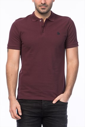 Jack & Jones Bordo Polo Yaka T-Shirt - Org Originals Polo SS -