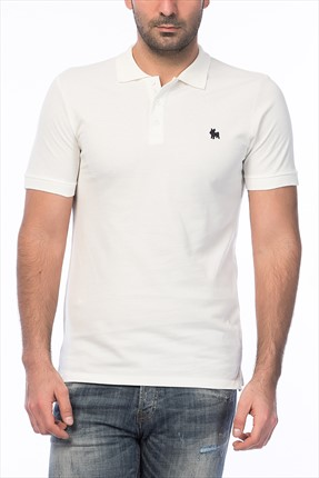 Jack & Jones Beyaz Polo Yaka T-Shirt - Org Originals Polo SS -
