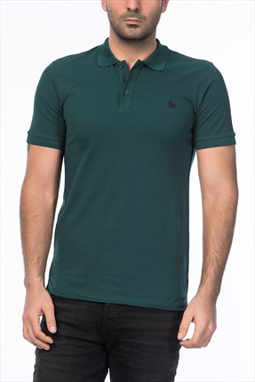 Jack & Jones Yeşil Polo Yaka T-Shirt - Org Originals Polo SS -