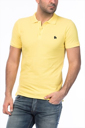Jack & Jones Sarı Polo Yaka T-Shirt - Org Originals Polo SS -