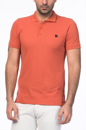 Jack & Jones Turuncu Polo Yaka T-Shirt - Org Originals Polo SS -