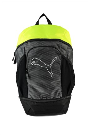 Puma Unisex Sırt Çantası - Echo Backpack Asphalt-Safety Yellow