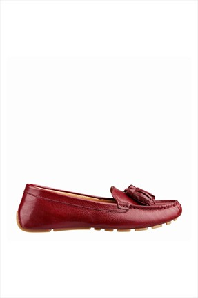 Nine West Hakiki Deri Kadın Bordo Loafer