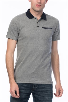 Jack & Jones Gri Polo Yaka T-Shirt - Chris Core Polo SS