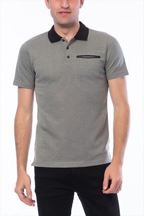 Jack & Jones Açık Gri Polo Yaka T-Shirt - Chris Core Polo SS
