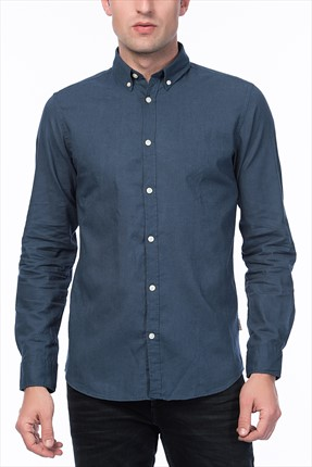 Jack & Jones Koyu Mavi Gömlek - Oscar Originals Shirt LS