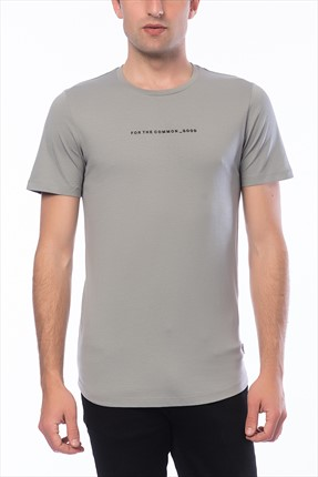 Jack & Jones Gri T-Shirt - Follow Core Tee SS Crew Neck