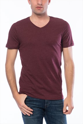 Jack & Jones Bordo T-Shirt - Otron Core Tee SS V-Neck