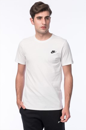 Nike Erkek T-shirt - M Nsw Tee Club Embrd Ftra -