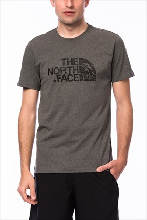 The North Face Erkek M S/S Woodcut Dome Tee T-shirt