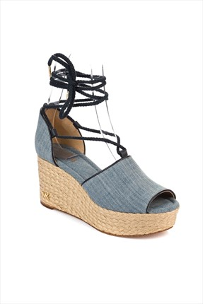 Michael Kors Mavi Denim Ayakkabı Hastings Mid Wedge