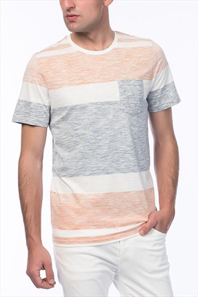 Jack & Jones T-Shirt - Block Originals Stripe Tee SS Crew Neck-