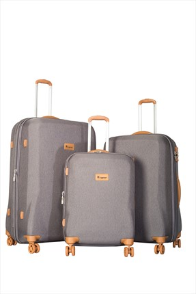 İT LUGGAGE Gri Set Boy Valiz