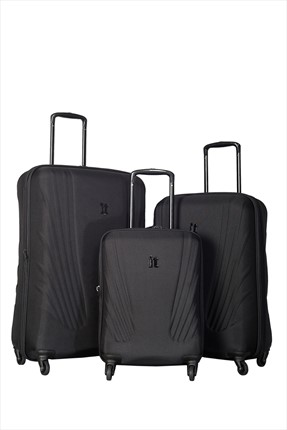İT LUGGAGE Siyah Set Boy Valiz