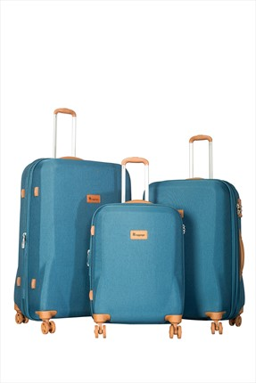 İT LUGGAGE Mavi Set Boy Valiz