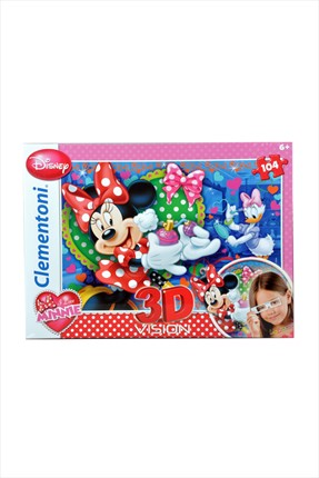 Toys Go Green Clementoni 3D Minnie Mouse 104Pcs Puzzle