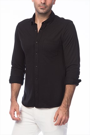 Jack & Jones Gömlek - Pique Core Shirt LS-