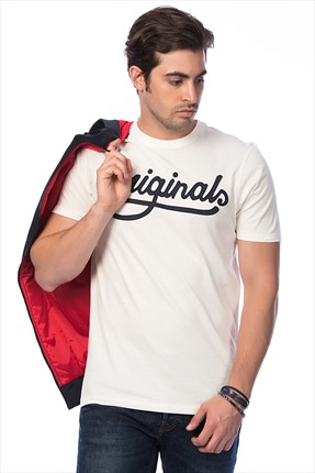 Jack & Jones T-Shirt - Wall Originals Tee SS Crew Neck-