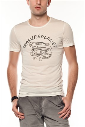 Superlife Erkek Krem T-Shirt SPR 266