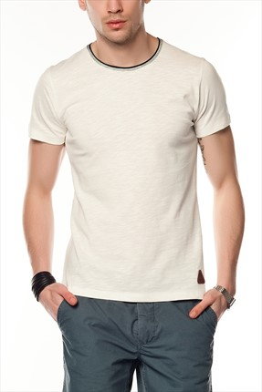 Superlife Erkek Krem T-Shirt SPR 206