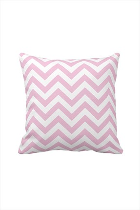 Beauty Crafts Chevron Yastık Kılıfı Pembe