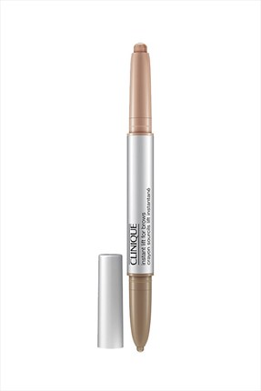 Clinique Açık Kahverengi Kaş Kalemi - Crayon Sourcils Lift Instantane 2 in 1 02 Soft Brown
