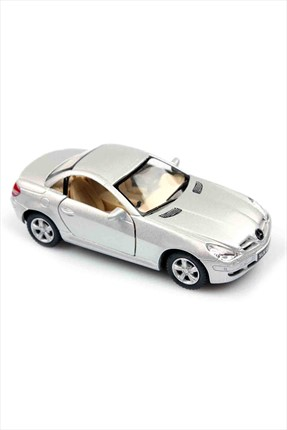 Learning Toys Gri Mercedes-Benz Slk Class  1/32 Çek Bırak Die-Cast Model Araç Kt5095-G