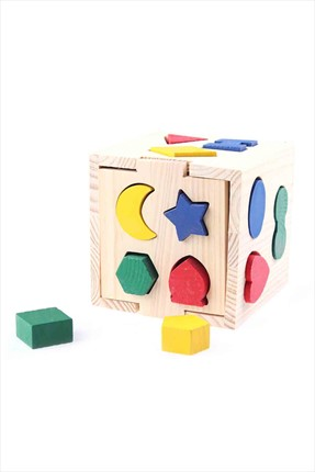 Learning Toys Wooden Geometrical Blocks