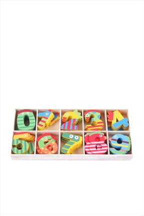 Toys Go Green Colourfull Wooden Numeric Set