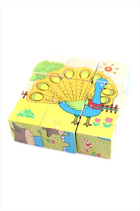 Toys Go Green Wooden Puzzle Cubes
