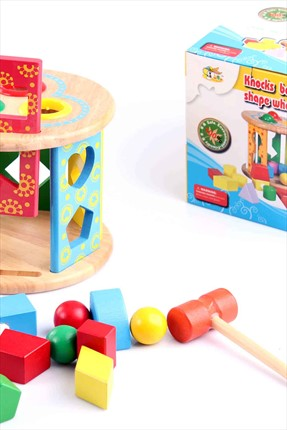 Learning Toys Knocks Ball Wisdom Shape Wheel