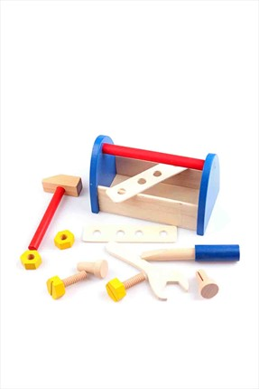 Toys Go Green Wooden Tool Box Toolb