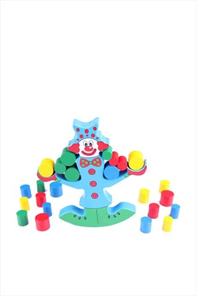 Learning Toys Wooden Clown Balance Beam