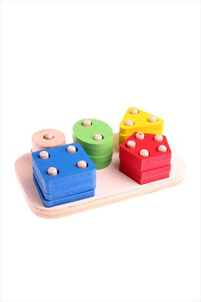 Toys Go Green Wooden Geometrical Blocks