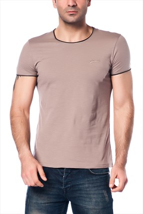 Superlife Erkek Vizon Lacivert Pamuk T-Shirt SPR 322