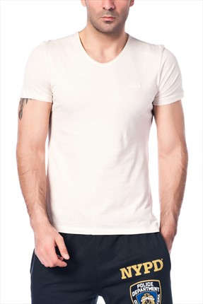 Superlife Erkek Krem T-Shirt SPR 323