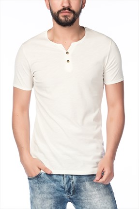Superlife Erkek Krem T-Shirt SPR 308