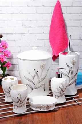 Kitchen World Bone China 6'lı Banyo Set Bny-535-Gumus