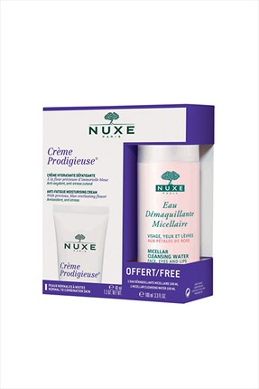 Nuxe Cilt Bakım Set - Hydratant Creme Prodigieuse 40 mL+Eau Demaquillante 100 ml