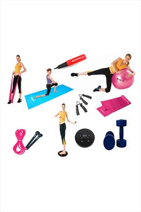Delta Fuşya Deluxe Pilates Set + Egzersiz Multi-Set *