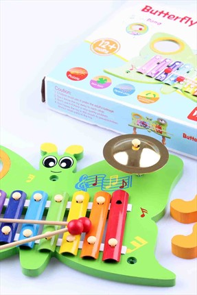 Learning Toys Butterfly Knock On The Piano 3 İn 1