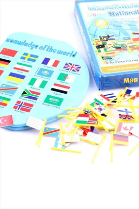 Learning Toys Map Of The World National Flag