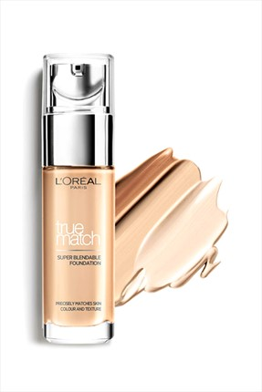 L'Oreal Paris Nemlendirme Etkili Fondöten - True Match Foundation 7D7W Ambre