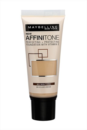 Maybelline New York Nemlendirme Etkili Fondöten - Affinitone Foundation 24 Golden Beige 30 ml
