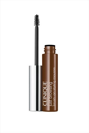 Clinique Koyu Kahverengi Kaş Maskarası - Just Browsing Brush on Styling Mousse 03 Deep Brown