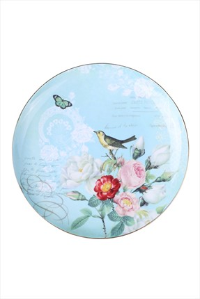 THANX CO 21 cm Botanical Birds Tabak -S16645E-BLU-PLT205CP
