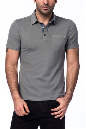 Banana Republic Erkek Slate Grey T-shirt