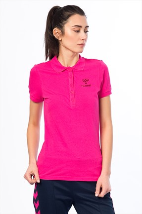 HUMMEL Kadın Polo Yaka T-shirt - Woman Ss Polo Aw14 -